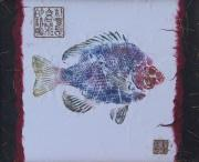 Gyotaku Prints - Simpliciity is the Heart of Elegance Print by Michele Caporaso