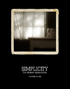 The Simple Life Posters - Simplicity Poster by Bonnie Bruno