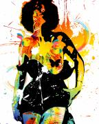 Burlesque Mixed Media Prints - Simplistic Splatter Print by Chris Andruskiewicz