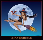 Sexy Witch Posters - Simply Bewitching Poster by Glenn Holbrook