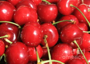 Red Fruit Photos - Simply Cherries  by Carol Groenen