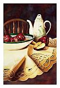Tablecloth Paintings - Simply Delicious by Mike Hill