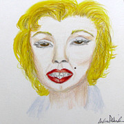 Norma Jean Drawings - Simply Marilyn by Barbara Giordano