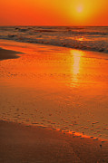 Beach Scenes Photos - Simply Orange by Emily Stauring