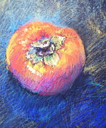 Juicy Pastels Posters - Simply Persimmon Poster by Pamela Pretty
