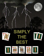 Simply Cards Prints - Simply The Best Poker Cards Print by Eric Kempson