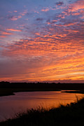 Simpson Creek Sunset 2 Print by Dawna  Moore Photography