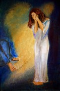 Condemnation Paintings - Sin No More by Lyn Deutsch