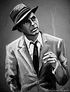 Tie Drawings Prints - Sinatra Print by Laura Rispoli