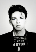 Sinatra Art Posters - Sinatra Mugshot Poster by Laurence Adamson