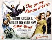 Harem Photo Framed Prints - Sinbad The Sailor, Walter Slezak Framed Print by Everett