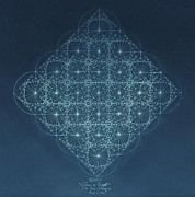 Aquired Drawings Posters - Sine Cosine and Tangent Waves Poster by Jason Padgett