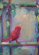 Cheer Painting Posters - Sing Little Bird Poster by Mary Wolf