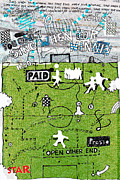 Football Mixed Media Framed Prints - Sing when yor winnin.. Framed Print by Andy  Mercer