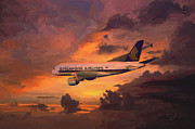 A380 Posters - Singapore Airlines A380 Poster by Nop Briex