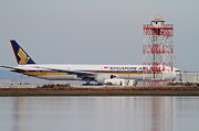 Boeing 747 Prints - Singapore Airlines Jet Airplane At San Francisco International Airport SFO . 7D12140 Print by Wingsdomain Art and Photography