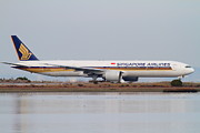 Boeing 747 Prints - Singapore Airlines Jet Airplane At San Francisco International Airport SFO . 7D12142 Print by Wingsdomain Art and Photography