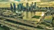 City Scape Originals - Singapore City on the Move by Paul W Sharpe Aka Wizard of Wonders