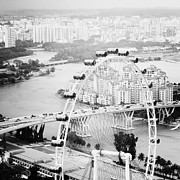 Flyer Prints - Singapore Flyer Print by Nina Papiorek