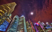 City Scape Originals - Singapore Night CityScape by Paul W Sharpe Aka Wizard of Wonders
