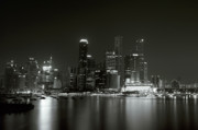 White River Scene Photo Originals - Singapore night lights by Sergey Korotkov