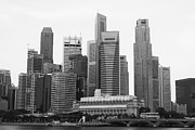 Singapore Prints - Singapore Skyline Print by David Gardener