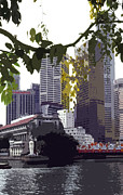 Asien Framed Prints - Singapore ... The Lion City  Framed Print by Juergen Weiss