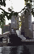 Asien Prints - Singapores Merlion Print by Juergen Weiss