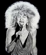 Singer And Actress Tina Turner  Print by Jim Fitzpatrick