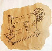 Singer Drawings - Singer Machine by Bridie  Smyth