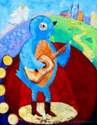 Bluebird Painting Originals - Singin and Dreamin by Debbie Warnock