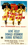 Kelly Photo Acrylic Prints - Singin In The Rain, Gene Kelly, Debbie Acrylic Print by Everett