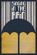Kelly Digital Art Metal Prints - Singin in the Rain Metal Print by Megan Romo
