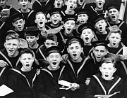 12-13 Years Prints - Singing Cadets Print by Fox Photos