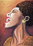 Billie Holiday Mixed Media Originals - Singing My Heart Out 2 by Keenya  Woods