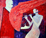 Music Lovers Painting Originals - Singing To My Angel 1 by Ana Maria Edulescu