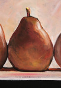 Pear Art Posters - Single Brown Pear Poster by Toni Grote