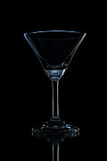 Isolated Glass Art - Single Empty Wine Glass by Kobchai Sukruean