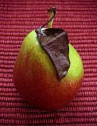 Pears Digital Art Originals - Single Pear Too by Lucyna A M Green