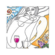 Wine Drawings - Single Varietal by Roy Guzman
