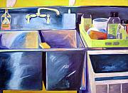 Diebenkorn Paintings - Sink by Deborah Cushman