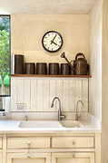 Drawers Prints - Sink in a Kitchen Interior Print by Noam Armonn
