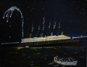 Photo  Paintings - Sinking of Titanic by Chris Collins