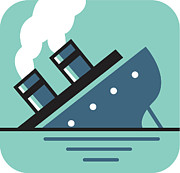 Problems Posters - Sinking Ship Poster by Bon Bon