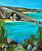 Landscap Painting Originals - Sint Maarten St Martin  by Patty Meotti