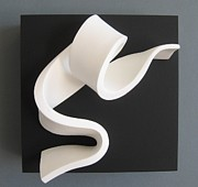 Black And White Sculpture Originals - Sinuous Sinueux by Benoit Forest