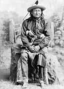 Oglala Framed Prints - SIOUX CHIEF, c1891 Framed Print by Granger