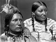 Oglala Prints - SIOUX COUPLE, c1900 Print by Granger