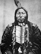 19th Century America Metal Prints - Sioux: Crow King Metal Print by Granger