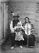 Breastplate Prints - SIOUX FAMILY, c1908 Print by Granger